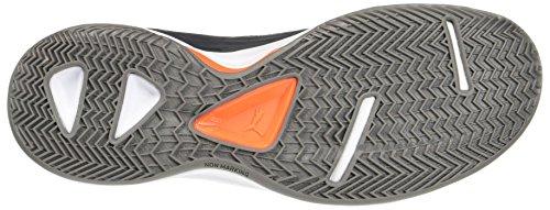 Puma Evoimpact 4.3, Scarpe Sportive Indoor Uomo Nero (Black-asphalt-shocking Orange)