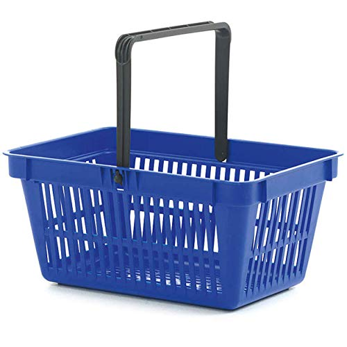 Wanzl Einkaufskörbe mit einem Griff, 22 l, Kunststoff, Blau