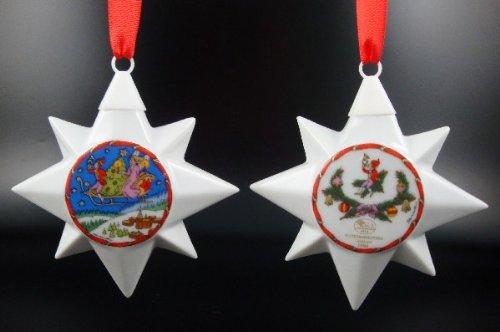 Hutschenreuther Weihnachtsstern 1994*Rarität, Porzellanstern, Anhänger, Weihnachten, Baumanhänger, Baumschmuck, Stern -