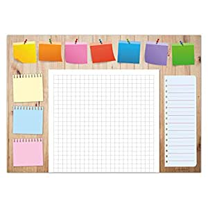 Desk pad Made of Paper for Children & Adults   Ideal as Notepad, Organizer, Weekly Planner & Daily Planner   Perfect for Your Daily to Do List   DIN A3 Desk pad