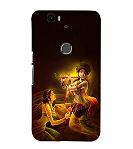 Fuson Premium Back Case Cover Lord RadhaKrishna With Multi Background Degined For Huawei Google Nexus 6P