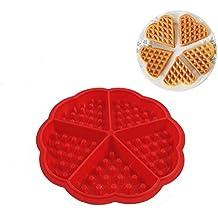 hangnuo gofres con forma de corazón para galletas molde cavidad 5pasteles molde DIY de silicona molde para hornear decoración herramientas
