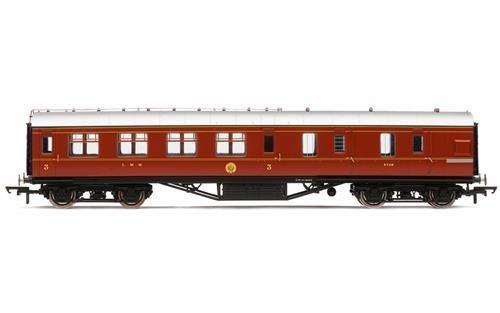 Hornby r4805LMS Korridor Bremse 3. Klasse Crimson Lake Zug Modell Set (Lionel Starter-set)