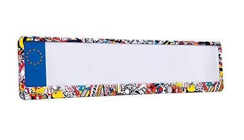 Preisvergleich Produktbild Design-Kennzeichenhalter Nummernschildhalter Stickerbomb 520x110mm NEU & OVP
