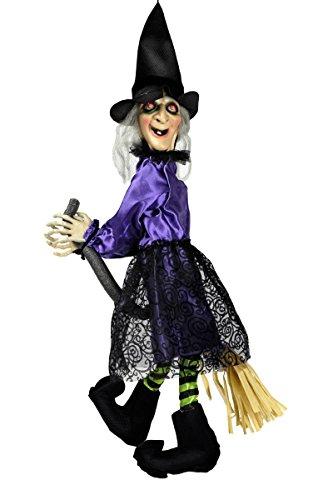 mit Zappelbeinen animiert 70x25cm Grusel Figur (Animierte Halloween-hexe)