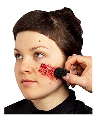 Horror-Shop Dunkler Blutschorf / Fresh Scratch für Latex & Unfall Wunden an Halloween