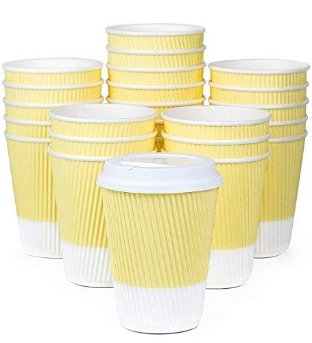 Kaffeetassen to go pastellfarben Gelb (Summer Yellow)
