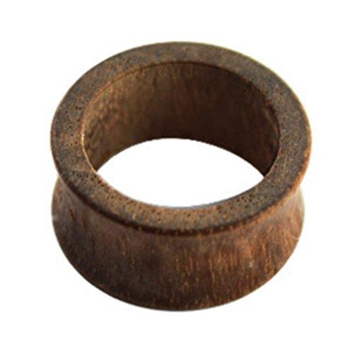 eeddoo Holz - Flesh Tunnel - Braun - AMI Nussbaum Wood - 16 mm (Piercing Organic Tunnel Ohr Plug für gedehnte Ohren Lobes Tubes)