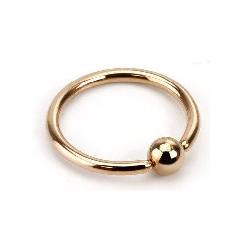 Oro rosa placcato Captive Bead anello (CBR)/Palla chiusura anello/cerchio-1,2mm x 6mm