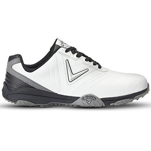 Callaway Men's Chev Comfort Golf Shoes, White (White/Black), 9 UK