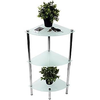Nice Cool Mit Satinierten Glasbden Xxcm Badregal Verchromt Eckregal Glasregal  With Badregal Glas