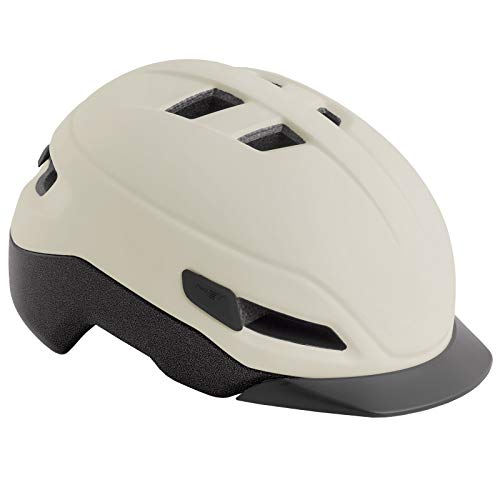 MET Grancorso Urban Fahrrad Helm City Retro Style Kopf Schutz Halbschale Cruiser Bike Radhelm Schild, 570010, Farbe Cream, Größe M
