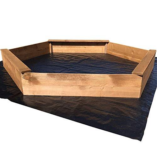 Sandkasten in 6-eck-Form aus lasiertem Kiefernholz, Ø 170 cm