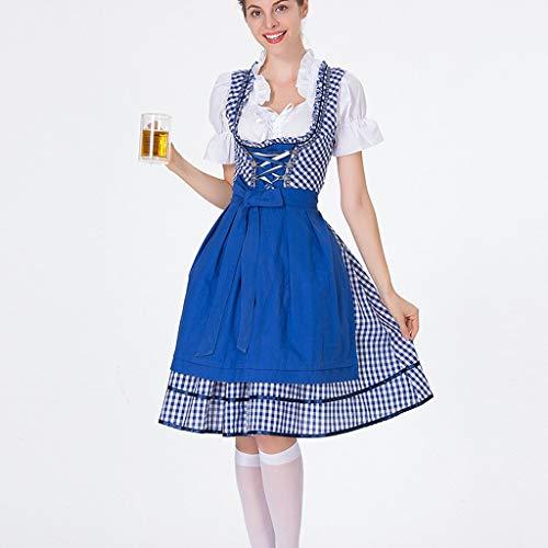 DAaomi Frauen Bier Festival Kleid Bayerisches Bier Festival Cosplay Kostüme (Tidus Cosplay Kostüm)
