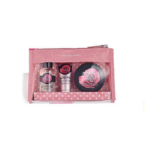 Les Sacs Body Shop fête Beauté -Fraise-Mangue-rose britannique-Shea-Noix de coco/The Body Shop Festive Beauty Bags - Argan Oil-Strawberry-Mango-Shea-Coconut- (Fraise) (Rose Britannique)