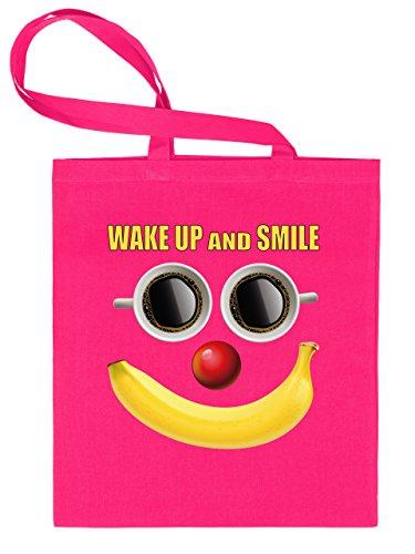 WAKE UP AND SMILE 5083 Stoffbeutel (Pink)