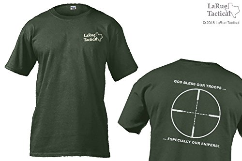 La Rue Tactical Herren Tactical T-Shirts–Gott segne unsere Truppen... Besonders Unsere Snipers. grün - Olive Drab