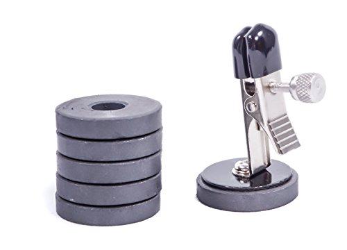2er Set Nippelklammern mit Magnet-Gewichten 0075 - 2