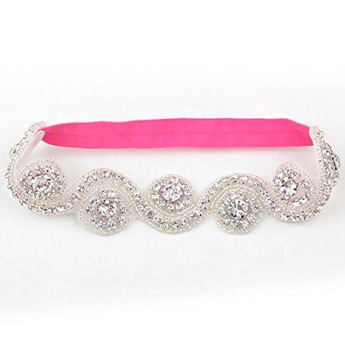 Crystal Crown Baby Kids Hair Band Princess Headwear Diamond Bridal Soft Prom Fabric
