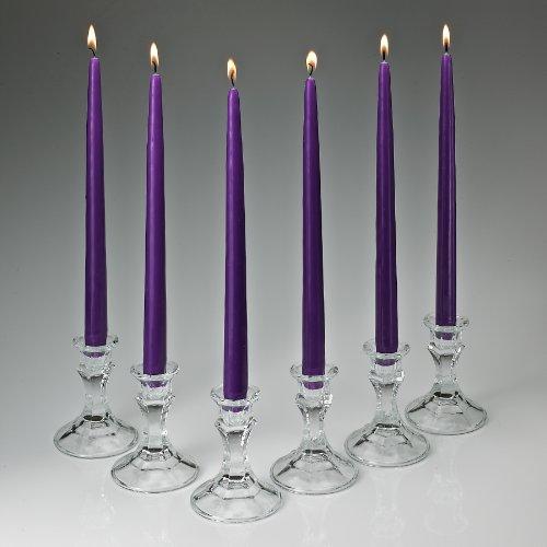 Elegante Taper Candles 12pulgadas de altura 3/4pulgada de grosor juego de 12Burn 10horas