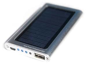 Alpen Power Professional GEO - Outdoor External Batterie mit Solar Ladegerät für Handy Smatphone GPS. Tief Preis Angebot! Original Preis 69.00 Euro! Duralu Stoßfest Gehäuse, Schnell Aufladung, Elegantes Design, Ultralicht-Gewicht. Outdoor USB externer akku, Power Bank Pack und SolarLadegerät