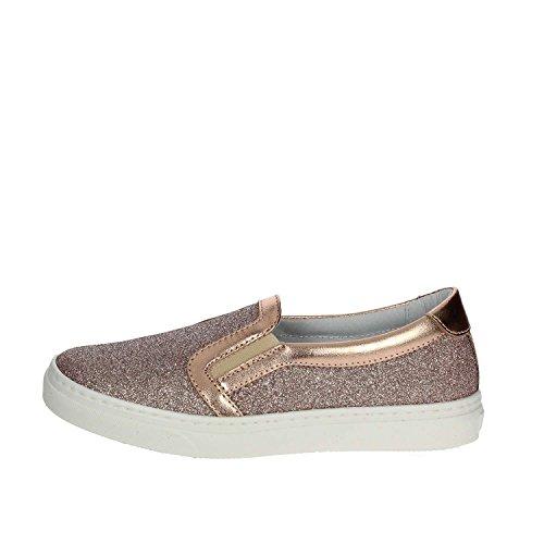 CIAO BIMBI - Slip-on rose en glitter, ourlet supérieur en cuir, pièces élastiques latérales, fille, filles