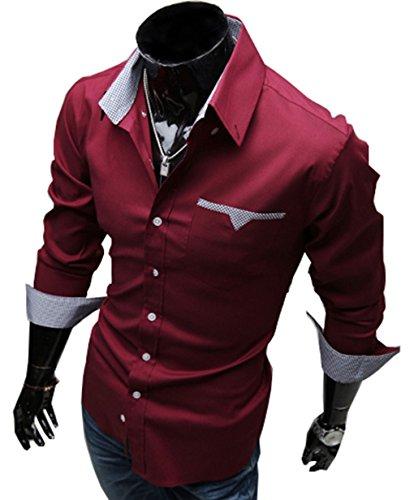 LemonGirl -  Camicia da cerimonia  - Uomo Red