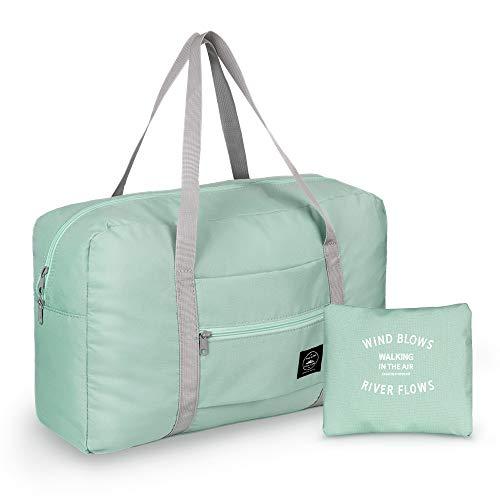 Leichter Faltbare Reisetasche, Simboom Wasserdichte Reise Handtasche Faltbare Reise-Gepäck Tasche Duffel Taschen für Reisen Sport Gym Shopping Gepäck (Minzgrün)