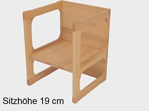 Kinderstuhl als Wendemöbel | Wendestuhl stabil und zeitlos | Kinderzimmermöbel aus 18mm massivem Buchenholz | robust, für Kindergarteneinsatz geeignet | handgefertigt | als Tisch...