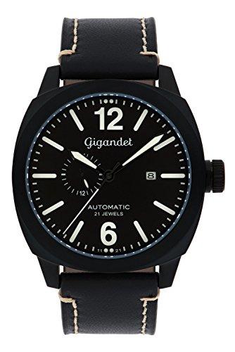 Gigandet Red Baron III Automatic Men's Aviator Watch Analogue Wrist Watch Black G16-003