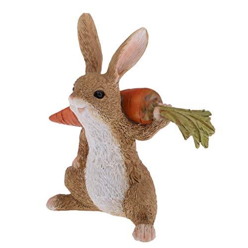 Homyl Realistische Künstliche Feder Kanichen Gartendekor Gartenfigur - A#