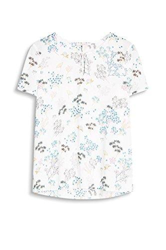ESPRIT Damen Bluse Mehrfarbig (White 100)
