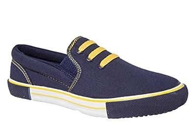 Rexona Sportif Men's Navy blue Canvas Sneakers ( Kicker 020-Navy/Yellow ) - 7