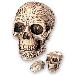 Katerina Prestige cendrier crâne Tribal PM avec Couvercle