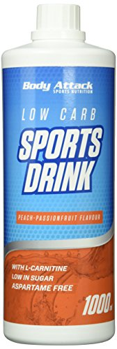 Body Attack Low Carb Sports Drink, Peach-Passion-Fruit /Pfirsich-Maracuja, 1er Pack, (1x 1000ml)