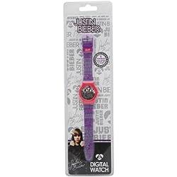 Justin Bieber Digital Wrist Watch (Purple & Pink)