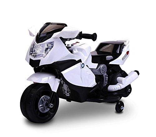 Moto de carreras eléctrica para niños 6V con luces y sonidos realistas
