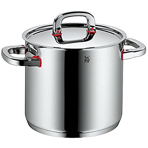 WMF Stock pot Ø 20 cm approx. 5,3l Premium One Inside scaling vapor hole Made in Germany Cool+ Technology metal lid Cromargan stainless steel brushed suitable for all stove tops including induction dishwasher-safe