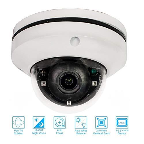 Goodtimera überwachungskamera Wireless 1080P,2 Millionen Dome-Netzwerkkameras POE - IP Zoom 3X IP-Überwachungskamera mit 360 Grad-Drehung und 360 ° Infrarot für die Deckeninstallation 360 Blackberry