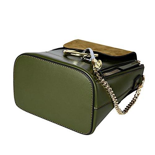 HT Fahion Satchel Backpack, Borsa a spalla donna Green