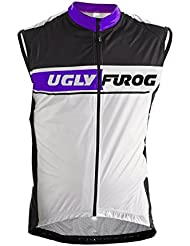 Uglyfrog 2018#23 Ciclismo Hombres Winter with Fleece Cycling Vest de Bicicleta Conjunto de Ropa