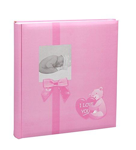 Baby Fotoalbum in 30x30 cm 100 Seiten für 600 Fotos Kinder Foto Album: Farbe: Rosa