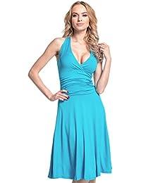 Glamour Empire. Mujer cuello halter Jersey Vestido S-4xl. 145