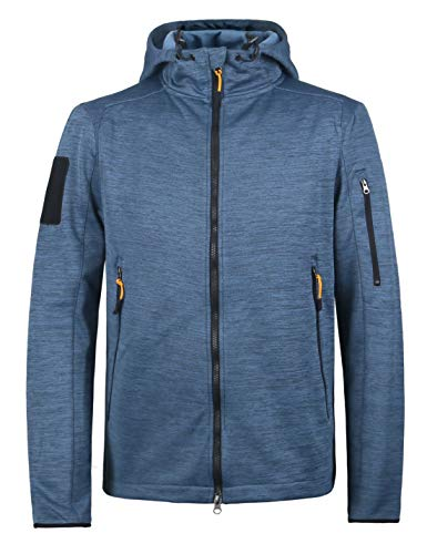 HARD LAND Herren Outdoor Hoodie Wasserdicht Fleece Jacke Midweight Tactical Kapuzen-Sweatshirt (XXXL, Blau) Design-fleece-jacke