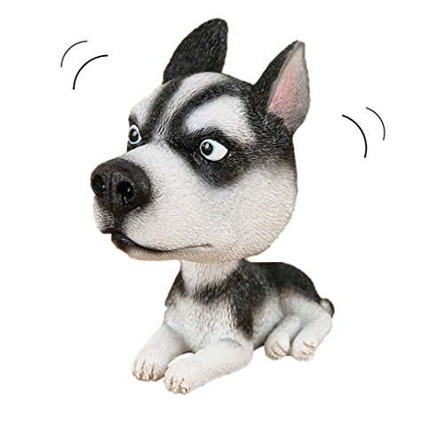 Husky siberiano perro Bobbing cabeza con cabeza tambaleante de perro adornos Mini Bobble Head juguetes para decoración del coche