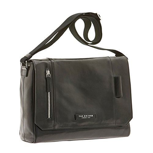 The Bridge Passpartout Sac bandoulière cuir 36 cm nero