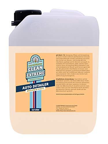 CLEANEXTREME Auto Detailer Brillanz & Schutz 2,3 Liter - Waschen ohne Wasser: Antistatisch, schmutzabweisend, Wasser perlt hervorragend ab. Reinigen, Pflegen, Versiegeln, Lackschutz Spray