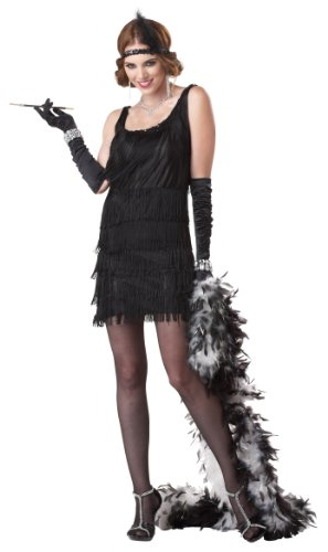 Charlestonkleid schwarz, Fashion Flapper 00837 (Medium)