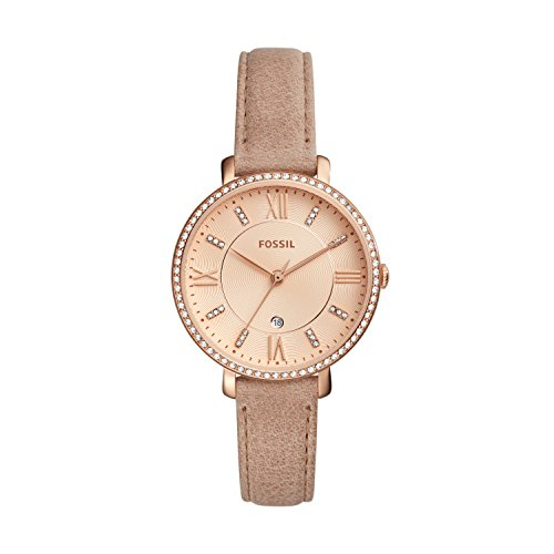 Fossil Damen Quarz Uhr mit Leder Armband ES4292