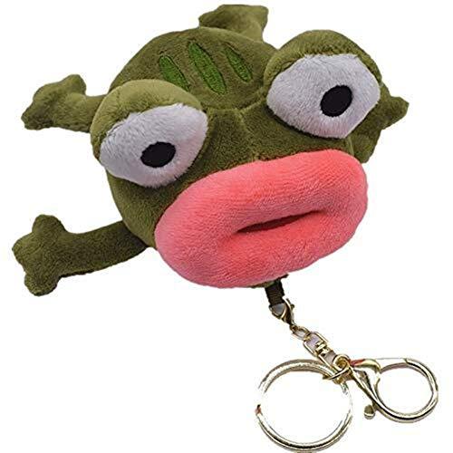 Ljwjialo Emoji Big Mouth Frog Bag Anhänger Schlüsselanhänger Sesame Street Doll Kleiner Frosch Rucksack Spielzeug